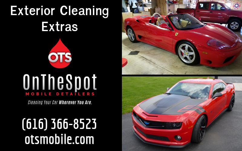 Exterior Cleaning Extras - OnTheSpot Mobile Detailers