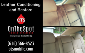 Leather Conditioning and Restore - OnTheSpot Mobile Detailers